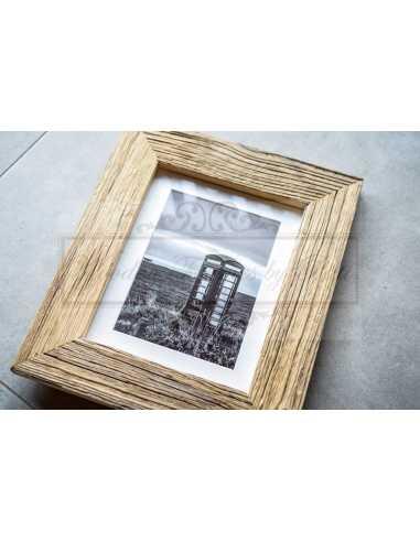 Cadre photo vieux bois - exemple de présentation