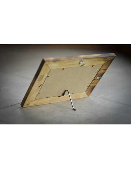 vue d'arrière de cadre avec patte chevalet installé
