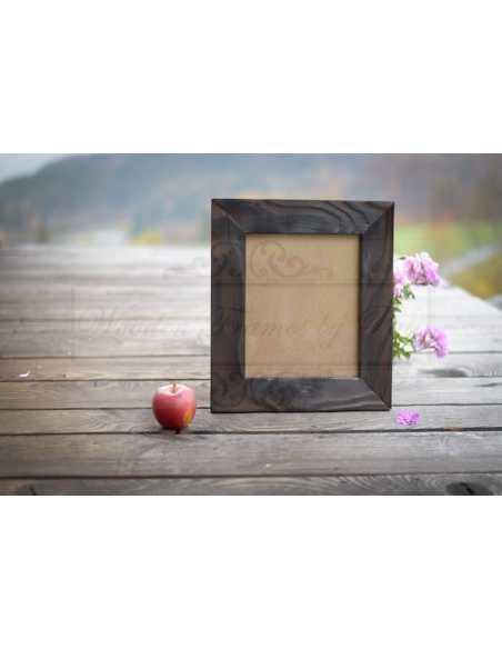 Cadre photo bois brûlé, dimensions aux choix