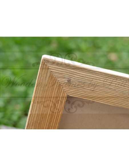 Texture cadre photo vieux bois