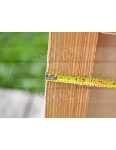 Largeur du bord cadre photo vieux bois